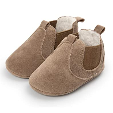 FuzzyGreen Khaki Baby Ankle Boots, Premium Soft Comfortable Cotton Infant Mocasin Shoes for Baby Boys