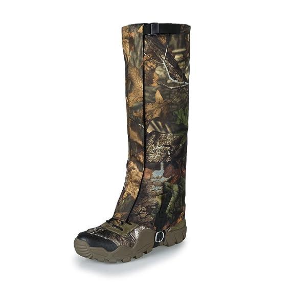 MagiDeal Coppia Outdoor Escursionismo Caccia Neve Impermeabile Stivali Scarpe Ghette Protezione Delle Ginocchio