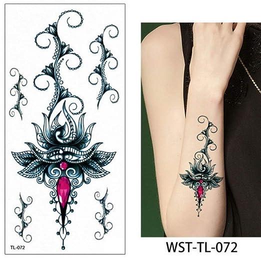 adgkitb 4 Piezas Hoja de joyería de esternón para Mujer Tatuaje ...