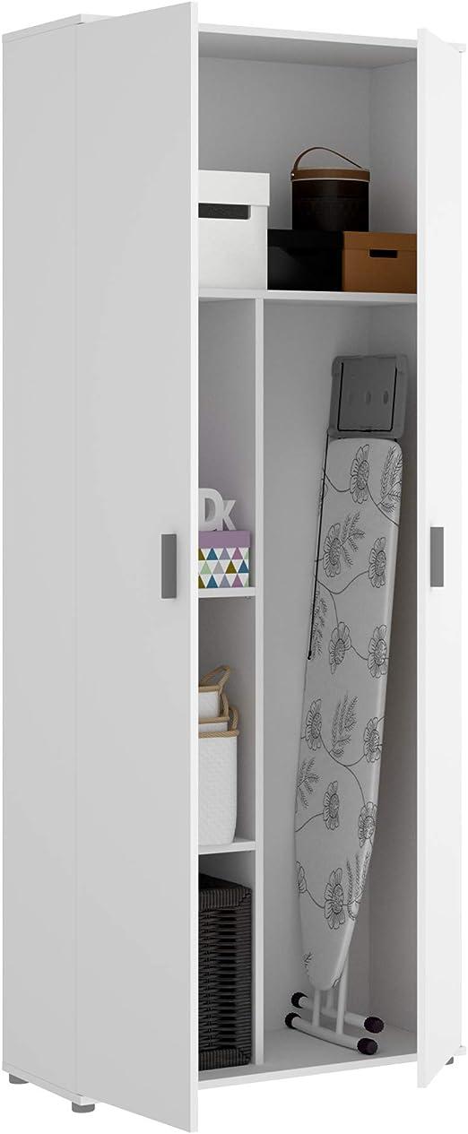 HOMEKIT Armario Multiusos 2 Puertas escobero, Blanco, 78x190x35cm: Amazon.es: Juguetes y juegos