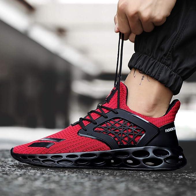 Darringls Zapatillas Deporte Hombre Zapatos para Correr Athletic Cordones Air Cushion Running Sports Sneakers 39-46: Amazon.es: Ropa y accesorios