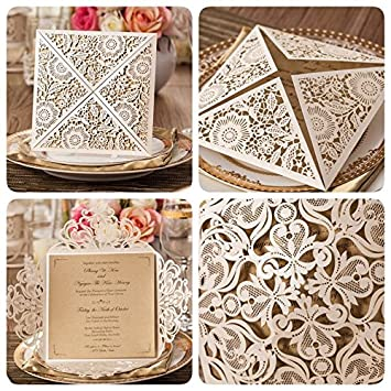 amazon com affordable wedding invitation laser cut wedding