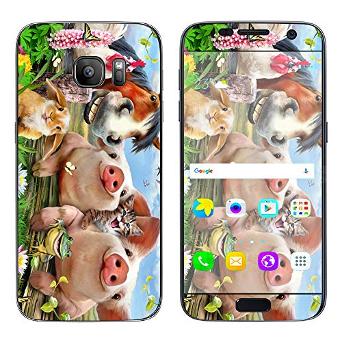 Petting Zoo Farm Selfie - Skin Decal Vinyl Wrap for Samsung Galaxy S7 - Decal Stickers Skins Cover ()