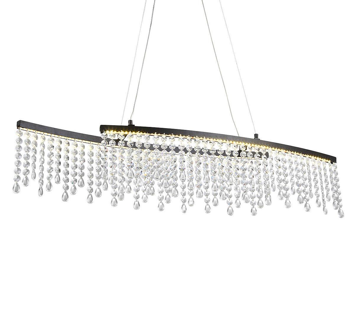 LED Design Glas Kristall Deckenleuchte Deckenlampe Hängeleuchte Pendelleuchte Pendelleuchte Pendelleuchte Lüster Kronleuchter 80 x 12,5cm 24W warm-weiß b589a8