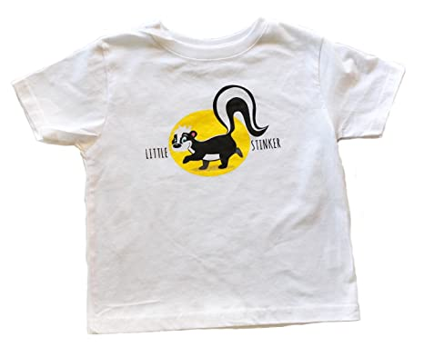 86fefd7d2 Amazon.com: Little Stinker by JP Doodles Toddler (Boys & Girls) 100% Cotton  Short Sleeve T-Shirt (2T, White): Clothing
