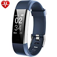 Willful Fitness Armband mit Pulsmesser,Wasserdicht IP67 Fitness Tracker Aktivitätstracker Pulsuhren Smartwatch Schrittzähler mit Vibrationsalarm Anruf SMS Whatsapp für iPhone Android Handy
