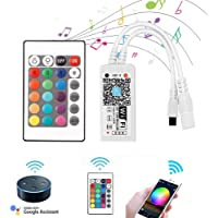 VIPMOON WiFi Wireless LED Smart Controller,Compatible with Alexa&Google Assistant&IFTTT,Working with Android,iOS System…
