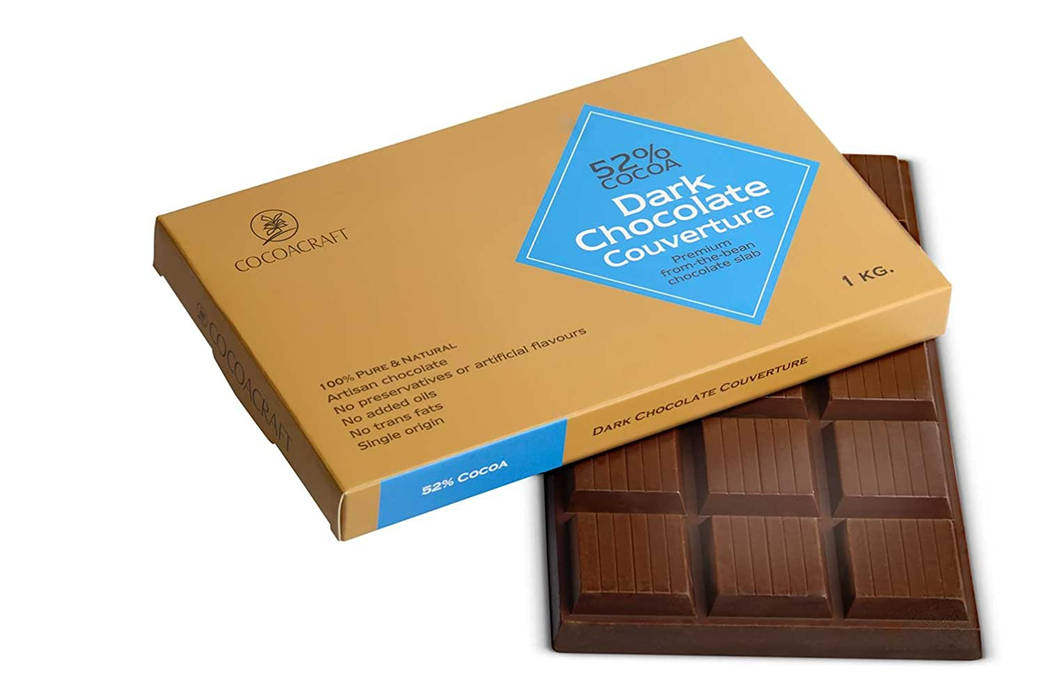 Cocoacraft 52% Dark Chocolate Couverture, 1 kg: Amazon.in: Grocery ...