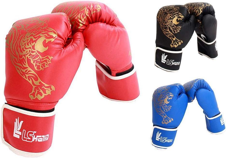 Haodene Guantes De Boxeo para Adultos//ni/ños Muay Thai Y Kick Boxing MMA Sparring Saco De Boxeo Artes Marciales Guantes De Boxeo para Entrenamiento