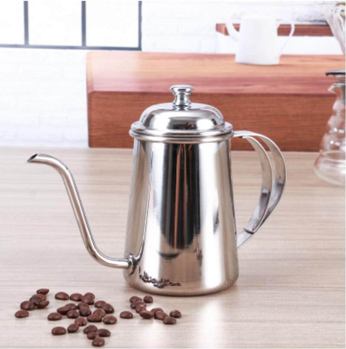 GERMER Golpe De Mano Cafetera Espresso De Acero Inoxidable De 650 Ml,Silver: Amazon.es: Hogar
