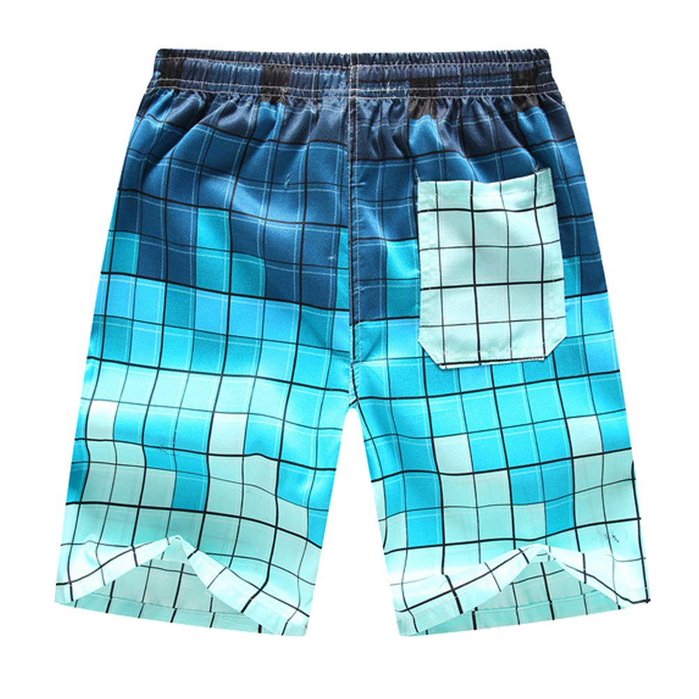 Advilen Mens Swim Trunks Summer Beach Shorts Board Pockets Casual Boardshorts