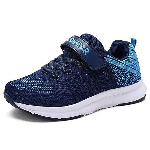 Unisex Chico Chica Zapatilla de Deporte del Zapato Negro Rosa Azul 25-36 EU: Amazon.es: Zapatos y complementos