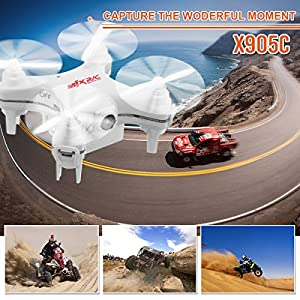 Mini Quadcopter with Camera,REALACC X-SERIES X905C Quadcopter Drone 2.4G 4CH 6 Axis Gyro With Camera Headless Mode Mini RC Quadcopter RTF by REALACC