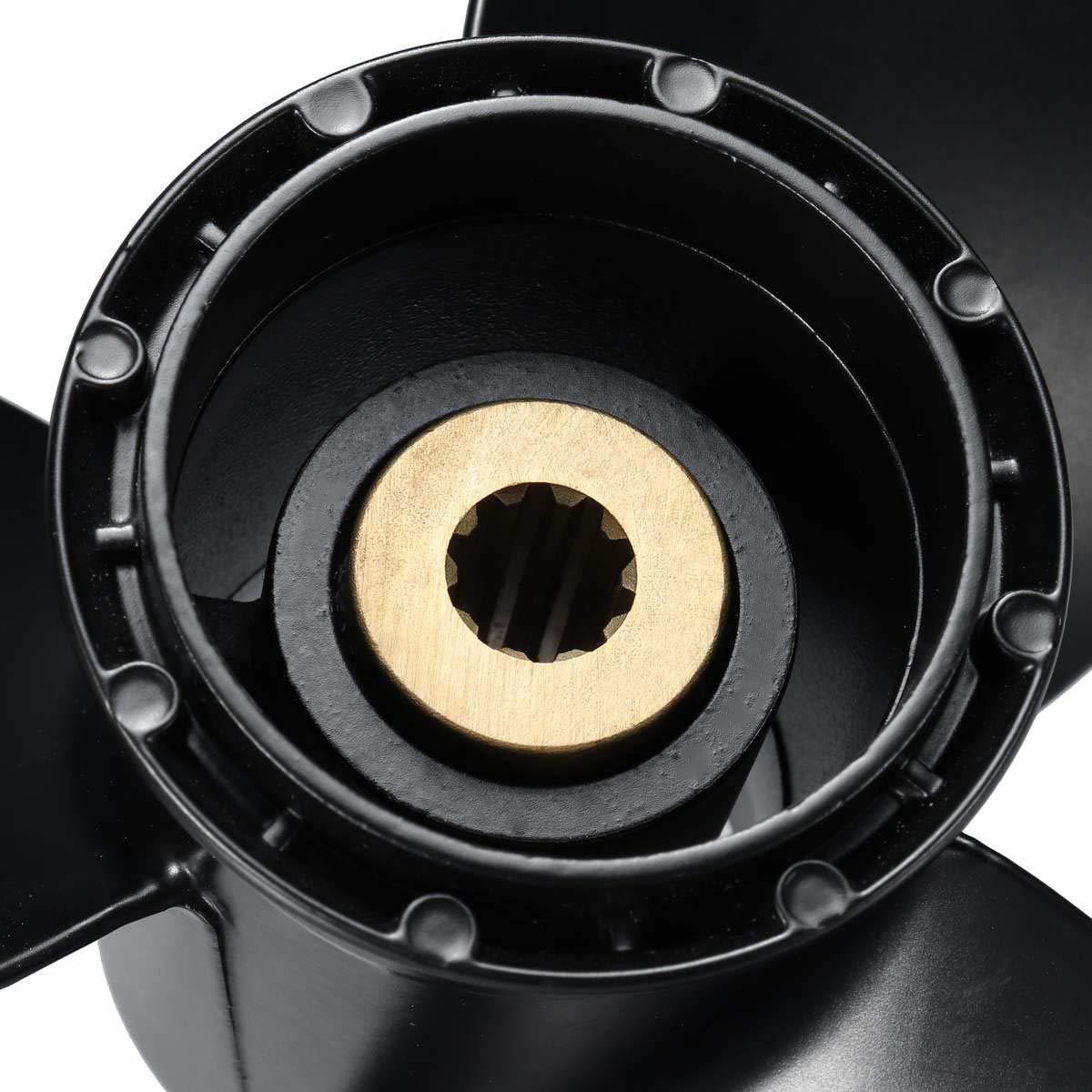 CUHAWUDBA Schiffs Motor Au?en Border Propeller Aluminium Legierung 3 Blatt Drehfl/ügel 58100-93733-019 F/ür 8-20Hp 9 1//4 X 10