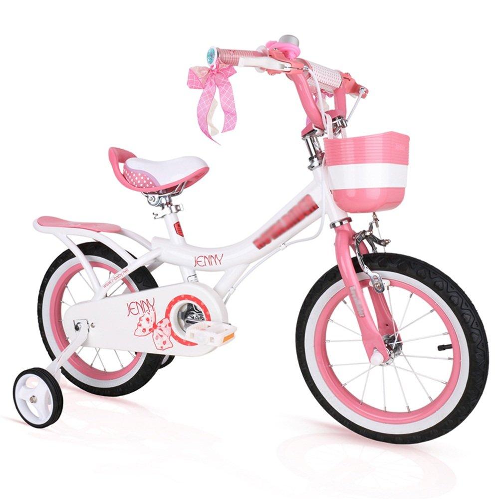 HAIZHEN マウンテンバイク 子供用自転車 ピンク、ライトピンク、紫 サイズ12インチ、14インチ、16インチ、18インチ アウトドアアウト 新生児 B07CG3M4NMPink white 12 inch