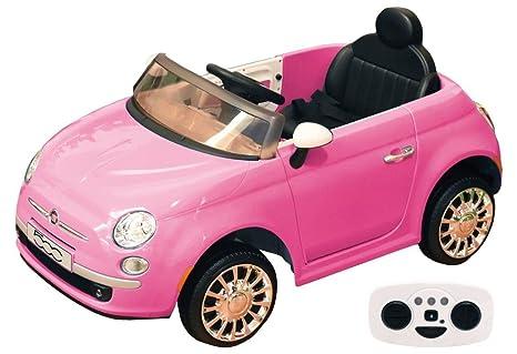 Fiat 500 Elettrica 12v Con Telecomando Rosa Amazon It Giochi E