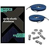 MAXX laces Cordones elásticos y planos, tensión ajustable para no tener que atar los zapatos, fáciles de usar…