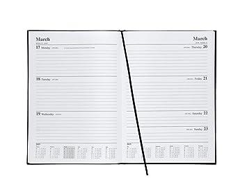 5 Star Office 941092 - Agenda semanal, A4, 2019, color negro