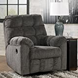 Ashley Furniture Signature Design – Acieona Recliner – Swivel Rocker – Pull Tab Manual Reclining – Slate