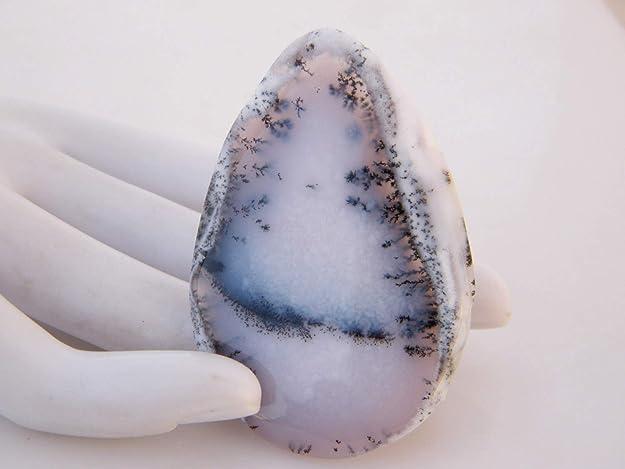 Beautifull Scenic Cabochon 37x30x7 MM Pear Cabochon #3804 Dendritic Opal 61 CTS