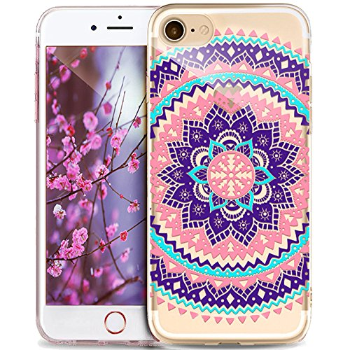 Price comparison product image iPhone 5S Case,iPhone SE Case,iPhone 5 Case,ikasus Ultra Thin Soft TPU Datura Mandala Sun Lace Flowers Soft Silicone Rubber Bumper Case,Crystal Clear Soft Floral Silicone Case for iPhone 5S 5 SE,#17