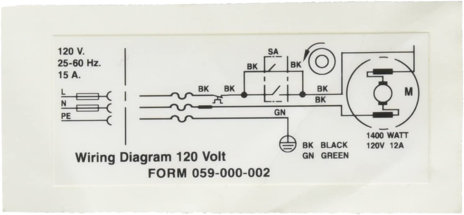 Ridgid 58982 Wiring Diagram 120v Decal Replacement Part Amazon Com