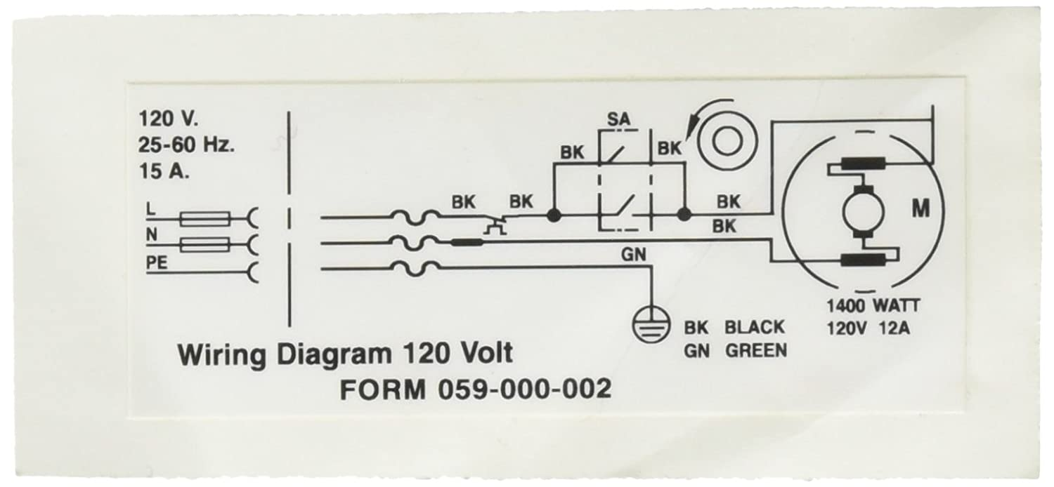 Ridgid 58982 Wiring Diagram 120v Decal Replacement Part