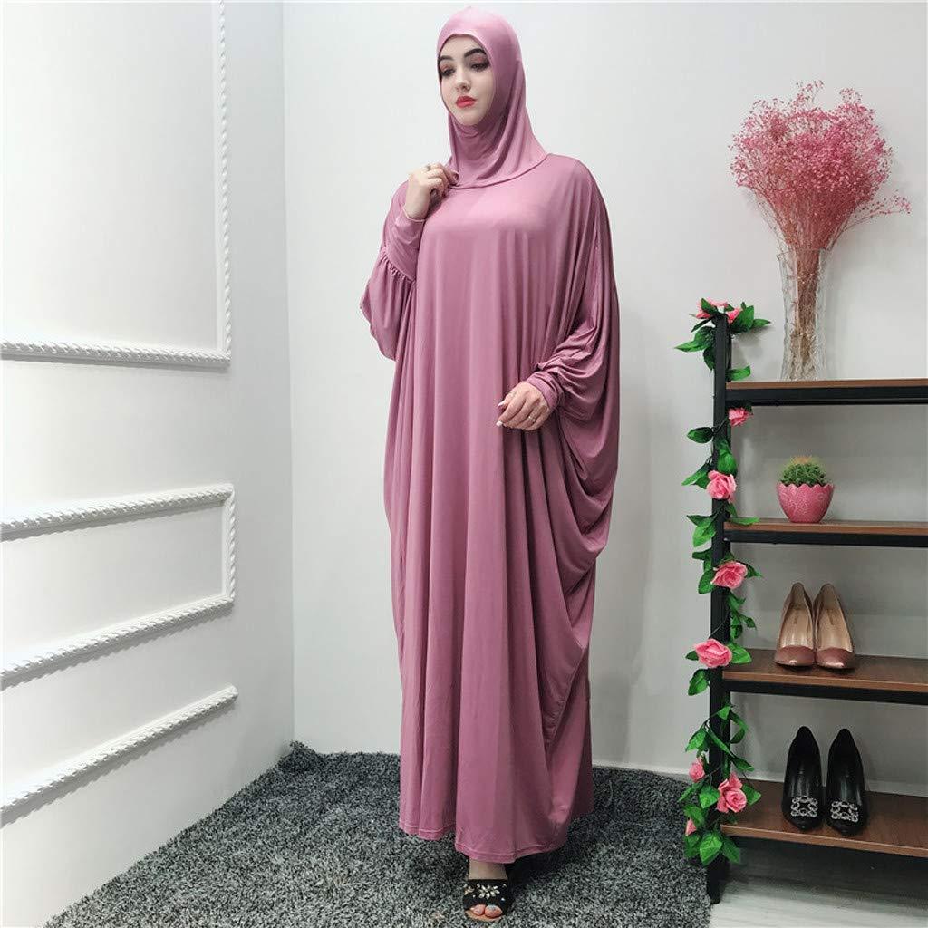 Clearance!Muslim Women Ethnic Robes Muslim Ramadan Long Sleeve Islamic Muslim Middle-East Cardigan Ramadan Dress (Watermelon) by PaJau (Image #2)
