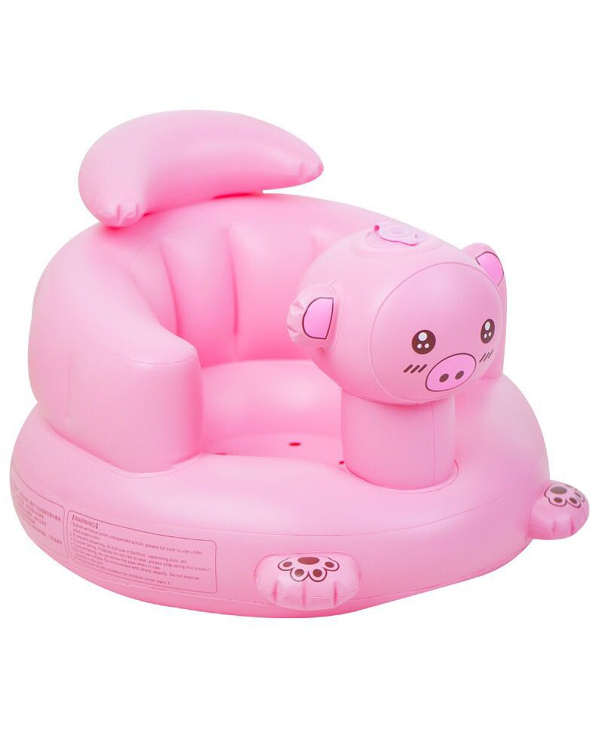 Inflatable Sofa for Baby Jusinhel Air Seat Use for Infant Shower and Learning to Sit with Durable Eco-Friendly Material - Pink Cat 691608943273