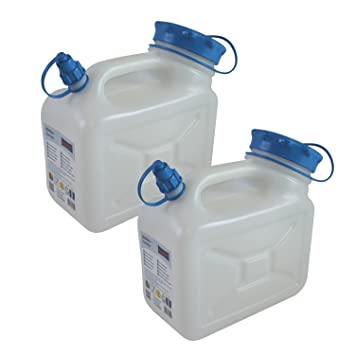 2 X 5 Frascos De Bidón 5 Litros Por 2 Unidades Alimentos Bidón Agua