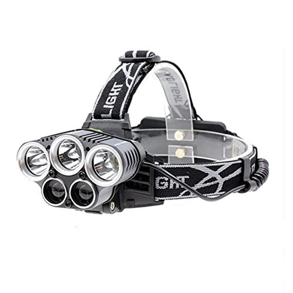 KLSHW Hiking Emergency Light Fishing Outdoor Headlights 5 LED XM-L T6 Headlights Highest Lumen LED Headlights