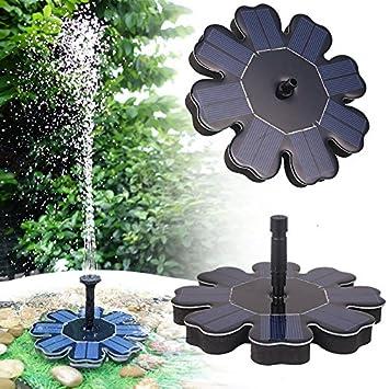 Pawaca Fontaine solaire, Énergie solaire Pompe de fontaine 8 V/1,6 W ...