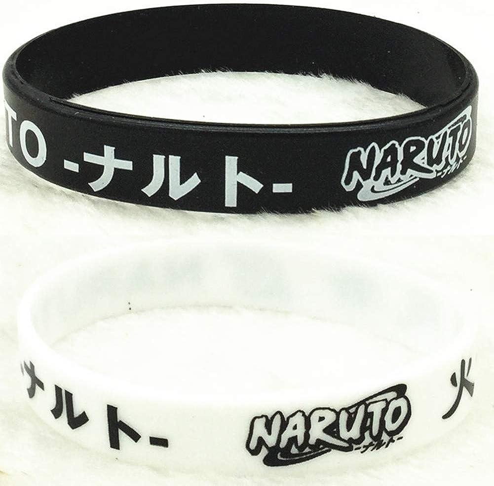 cluis Anime Naruto Silicone Bracelets Bande de Silicone Naruto Shippuden Party Supplies Bracelets pour Enfants F/ête danniversaire Faveurs