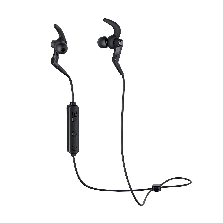 AUKEY Cuffie Bluetooth Sportive Auricolari Wireless con Microfono Incorporato, 5 ore di Riproduzione per Huawei, Samsung, iPhone, Tablet e Altri Dispositivi