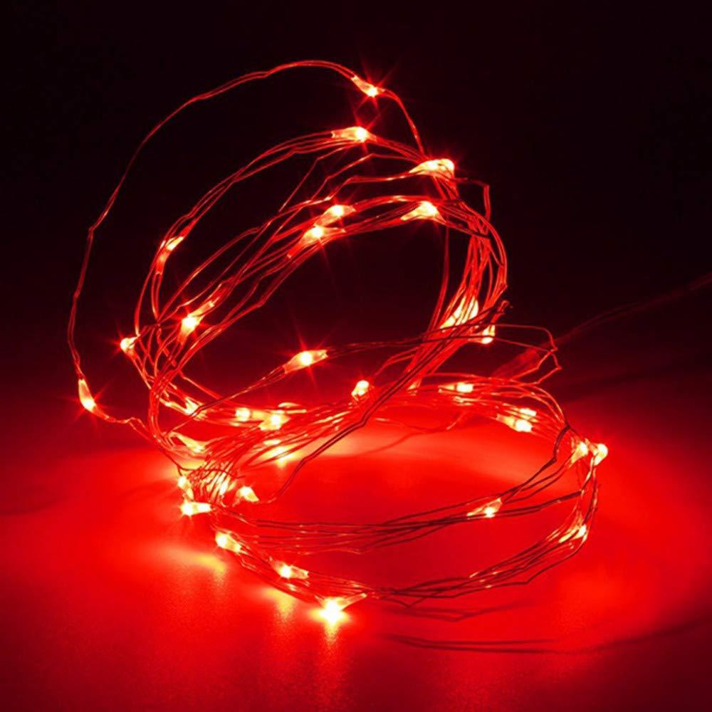 Lichterkette,FeiliandaJJ 20M 200pcs Wasserdichte Flexibel Kupferschnur LED Licht Hochzeit Party Halloween Xmas Innen//Au/ßen Haus Deko String Lights Lila