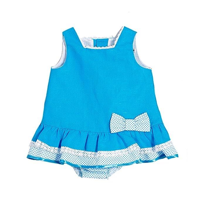 Vestido niña bebé azul FERIA _ vestidos niña bonitos, vestido niña fiesta, vestido niña