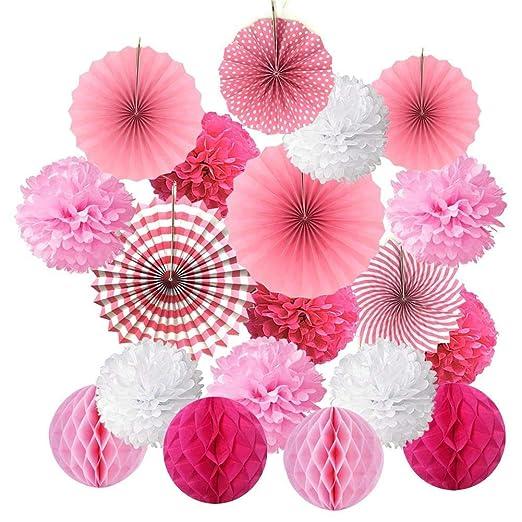 Juego de 19 pompones de papel de seda para decoración de ...