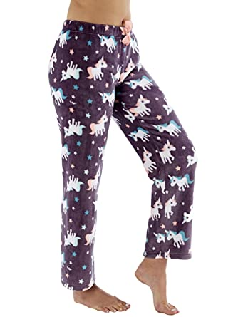 Ladies Fleece Pyjama Pajama Bottoms Lounge Pants Pj Nightwear