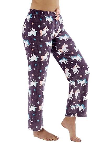 6af63ba34c Ladies Fleece Pyjama Pajama Bottoms Lounge Pants PJ Nightwear  Amazon.co.uk   Clothing