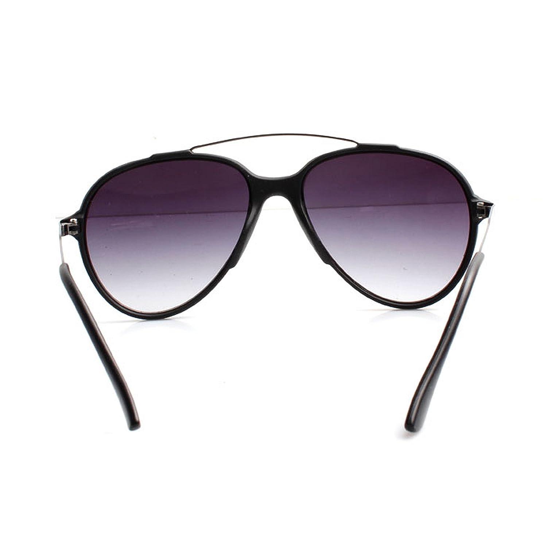 Accessoryo - Lunettes de soleil d'aviateur noir avec barre de sourcil et verres noirs ITPg4