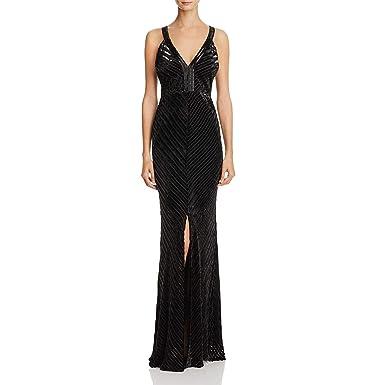 99bb2a29c080 Laundry by Shelli Segal Womens Sleeveless Full-Length Evening Dress Black 8  at Amazon Women s Clothing store