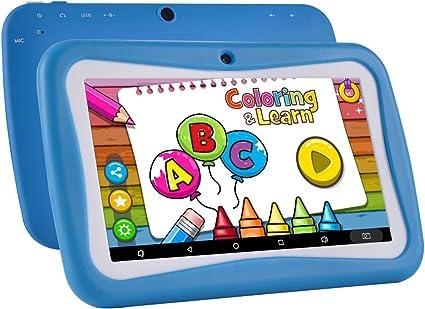 BENEVE M755 Kids Tablet 7 pouces Andriod 7.1 Tablet avec 1 Go de RAM 8 Go ROM et Wifi bleu logiciel pour enfants iWawa pr/é-install/é