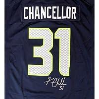 $289 » Seattle Seahawks Kam Chancellor Autographed Blue Nike Jersey Size XL MCS Holo