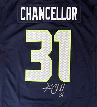 9b902627d Seattle Seahawks Kam Chancellor Autographed Blue Nike Jersey Size XL MCS  Holo