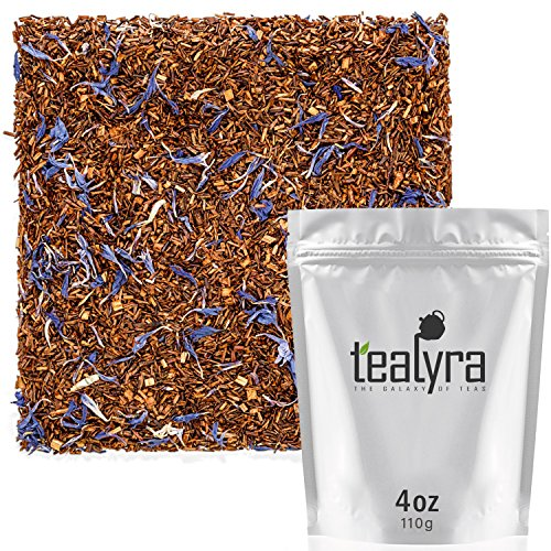 Tealyra - Rooibos Earl Grey - Caffeine-Free - Herbal Loose Leaf Tea - Red Bush Tea with Bergamot oil - Claming and Relaxing Blend - 110g - Bush Red African