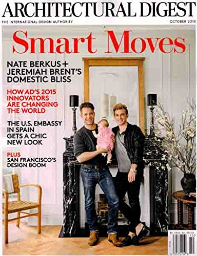 Architectural Digest 2015 October - Nate Berkus + Jeremiah Brent's Domestic Bliss