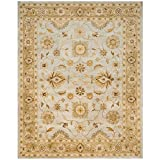 Safavieh Antiquities Collection AT856B Handmade Traditional Oriental Light Blue and Sage Wool Area Rug (5′ x 8′)