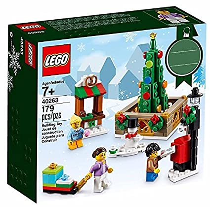 amazoncom lego 40263 christmas town square toys games