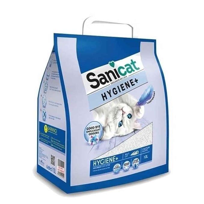 Sanicat Hygiene+ Arena de Gatos Absorbente - 10L: Amazon.es: Productos para mascotas