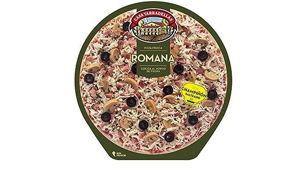 Casa Tarradellas - Pizza Fresca Romana, 410 g: Amazon.es ...